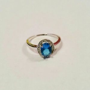 Blue and Silver Fashion Ring
